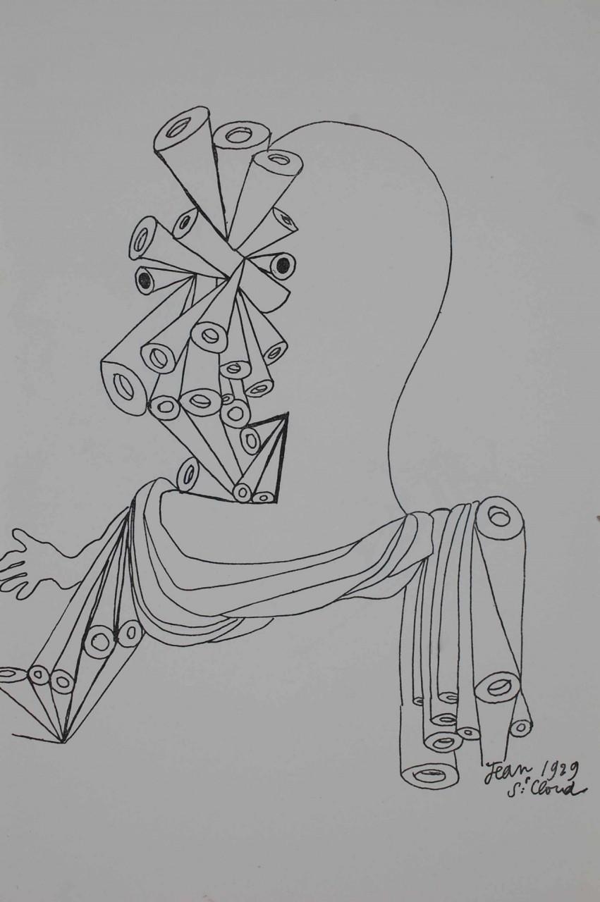 COCTEAU Jean visage composé