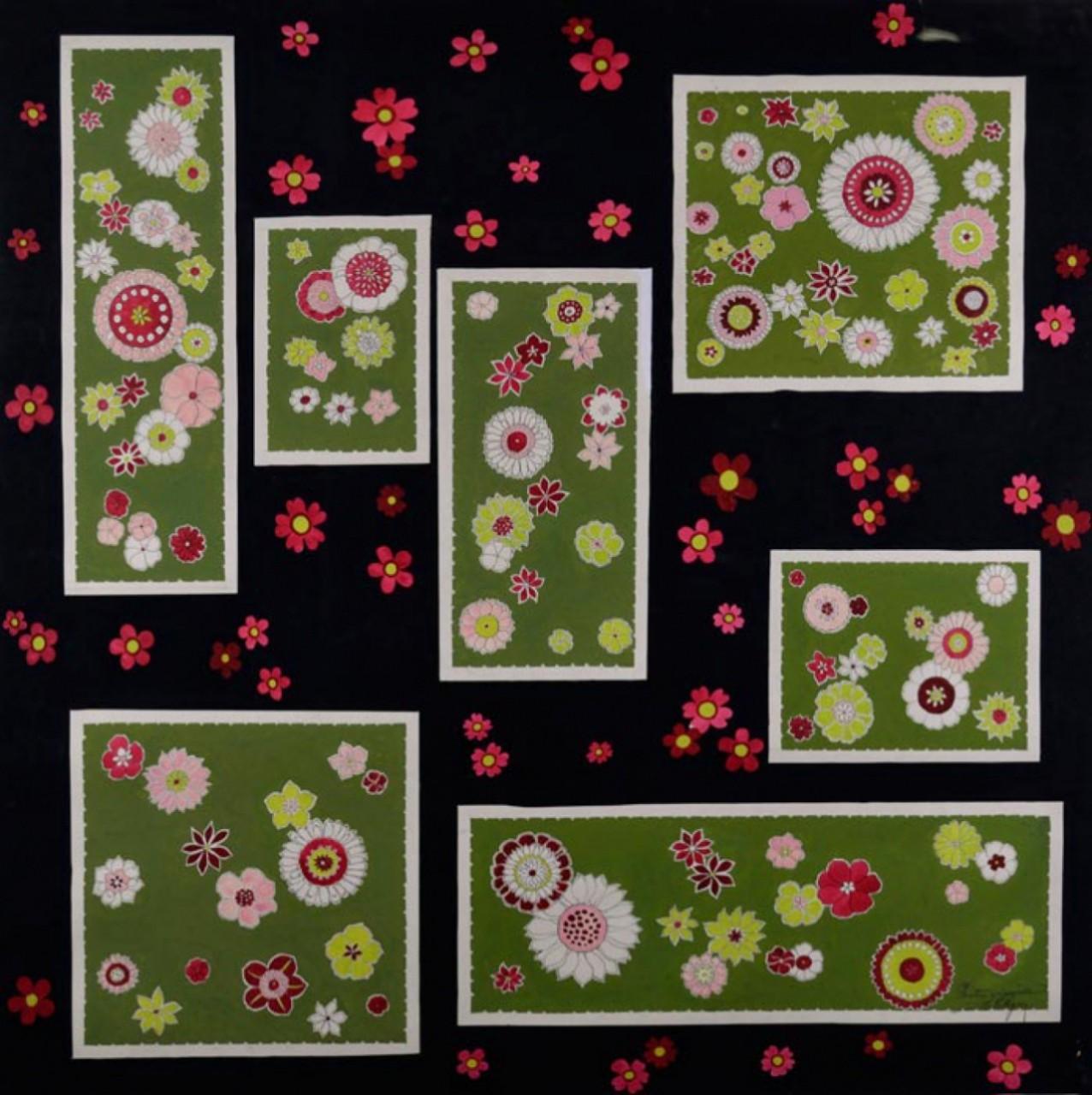 COLLIGNON Georges étiquettes vertes fleurs