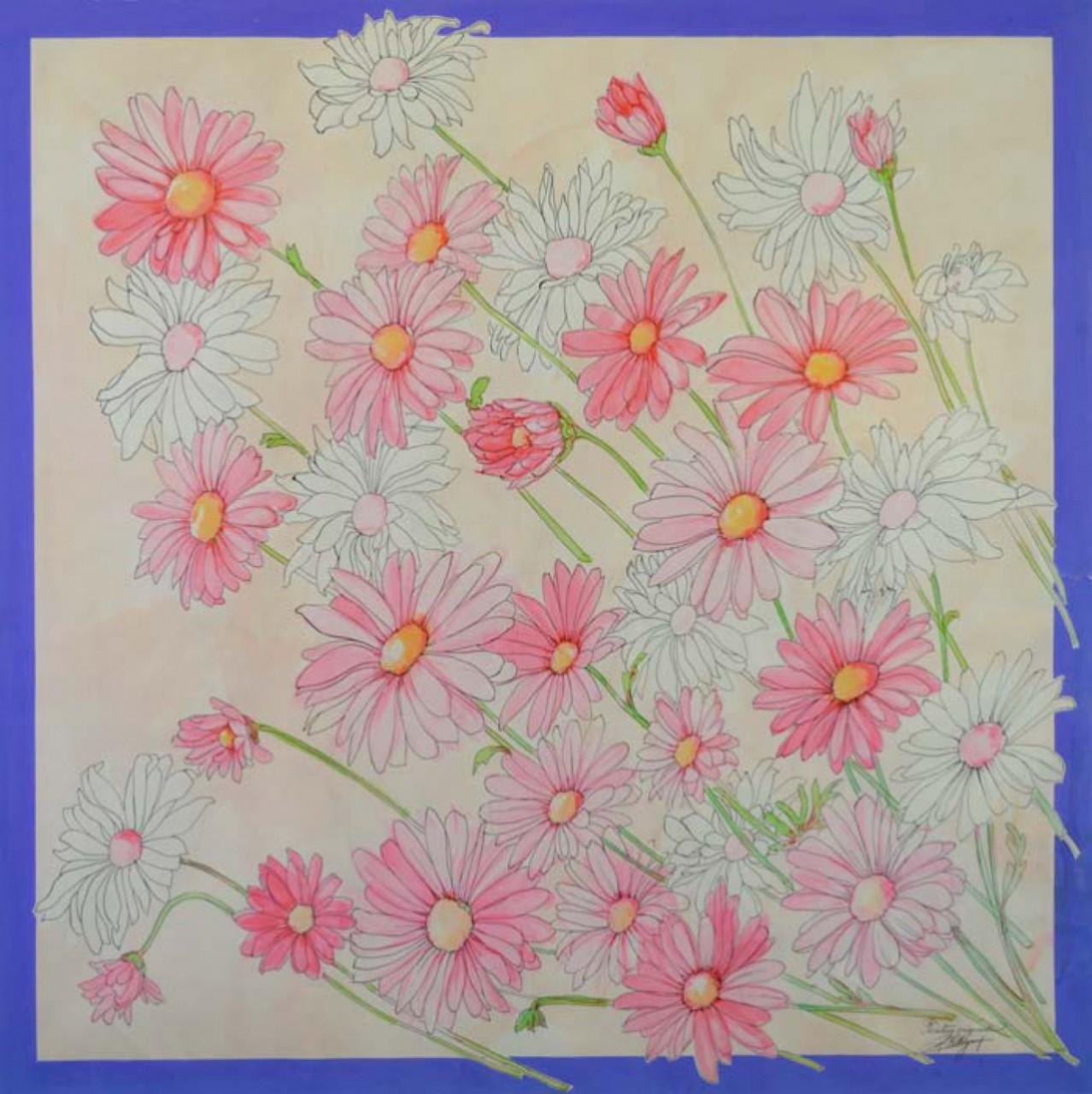 COLLIGNON Georges fleurs roses et blanches