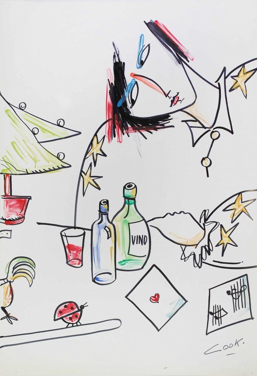 COOK Juan femme buvant