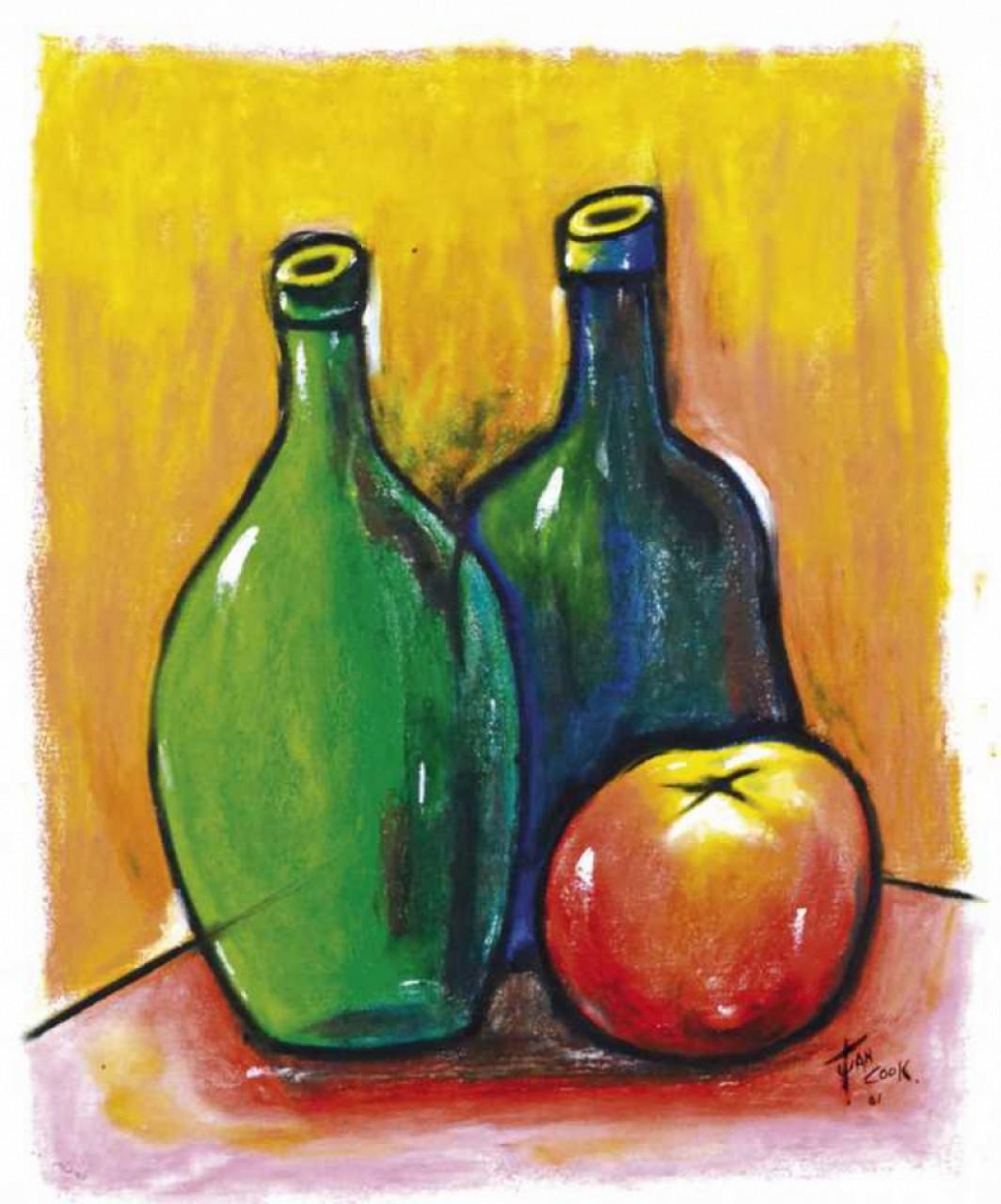 COOK Juan bouteille et pomme