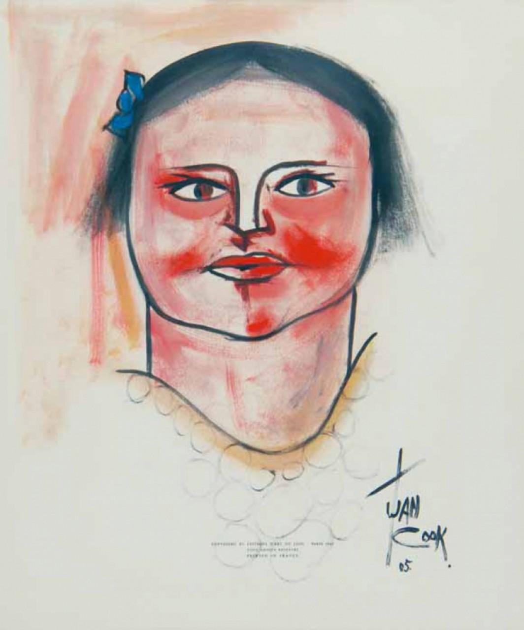 COOK Juan portrait d'une femme brune