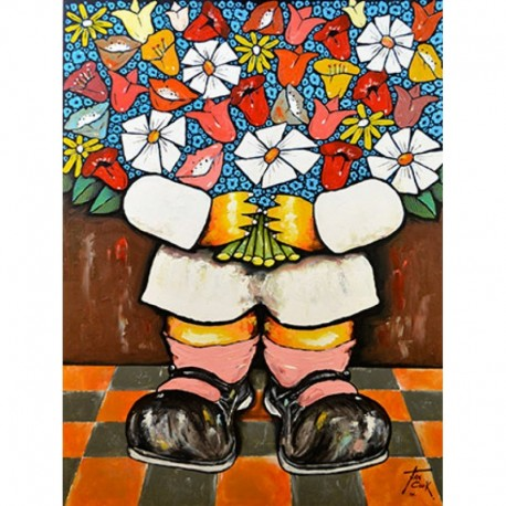 COOK Juan petit personnage grand bouquet