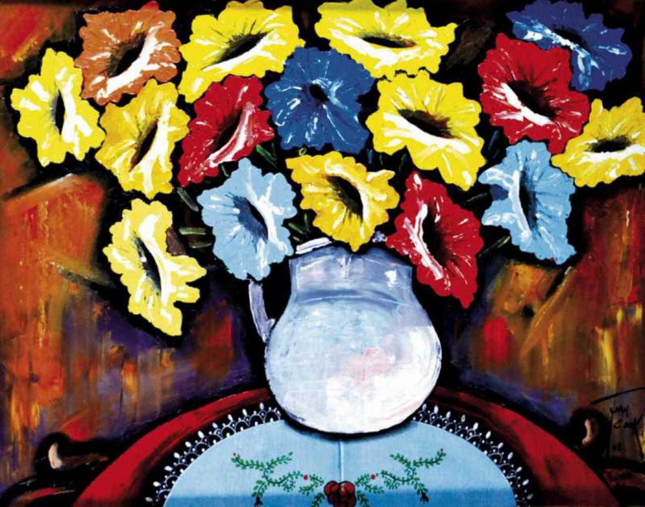 COOK Juan vase de fleurs colorées
