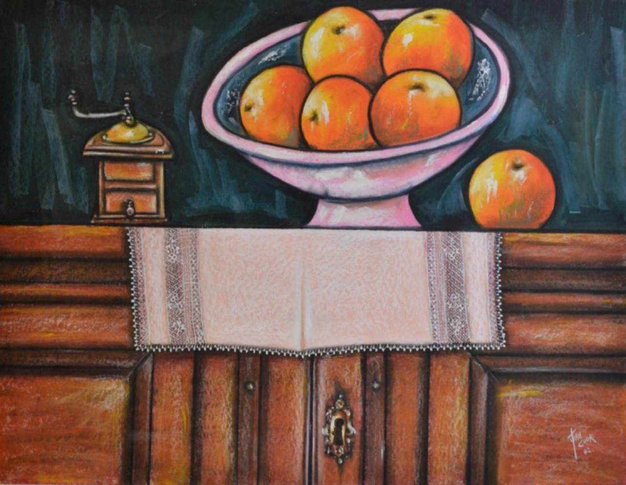 COOK Juan oranges sur le buffet