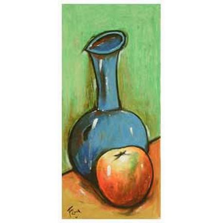 COOK Juan vase bleu et pomme