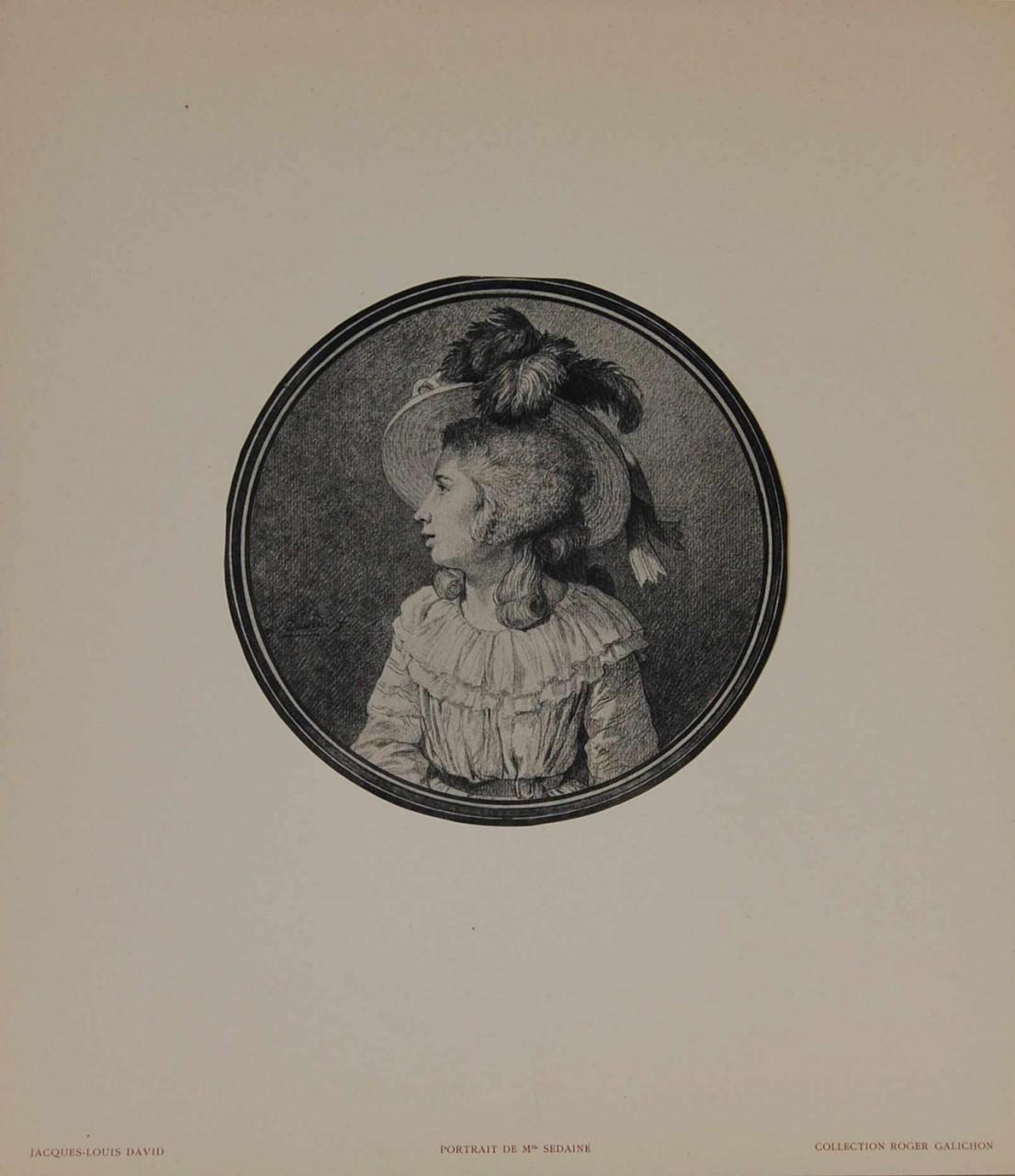 DAVID Jacques-Louis femme a chapeau de profil