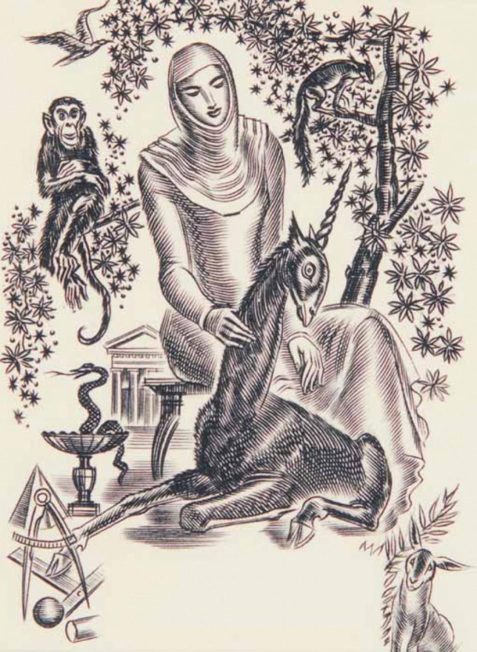 DECARIS Albert femme avec animaux