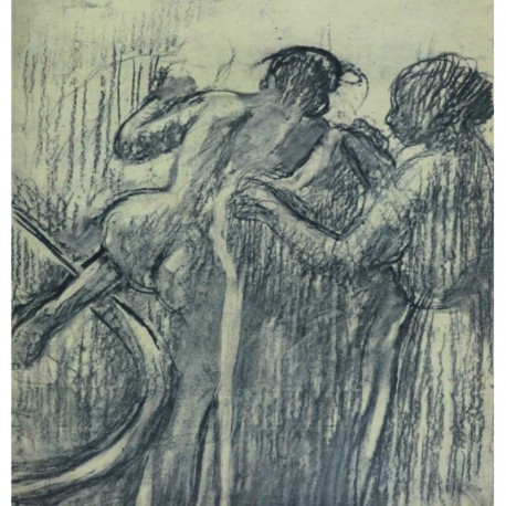 DEGAS Edgar femme sortant du bain