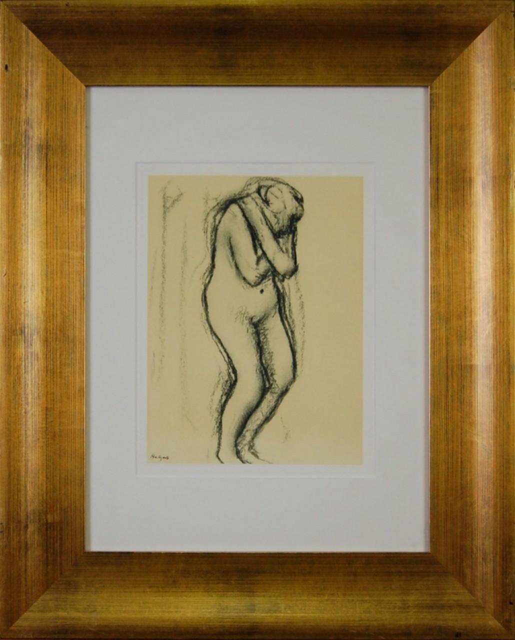 DEGAS Edgar femme nue recroquevillée
