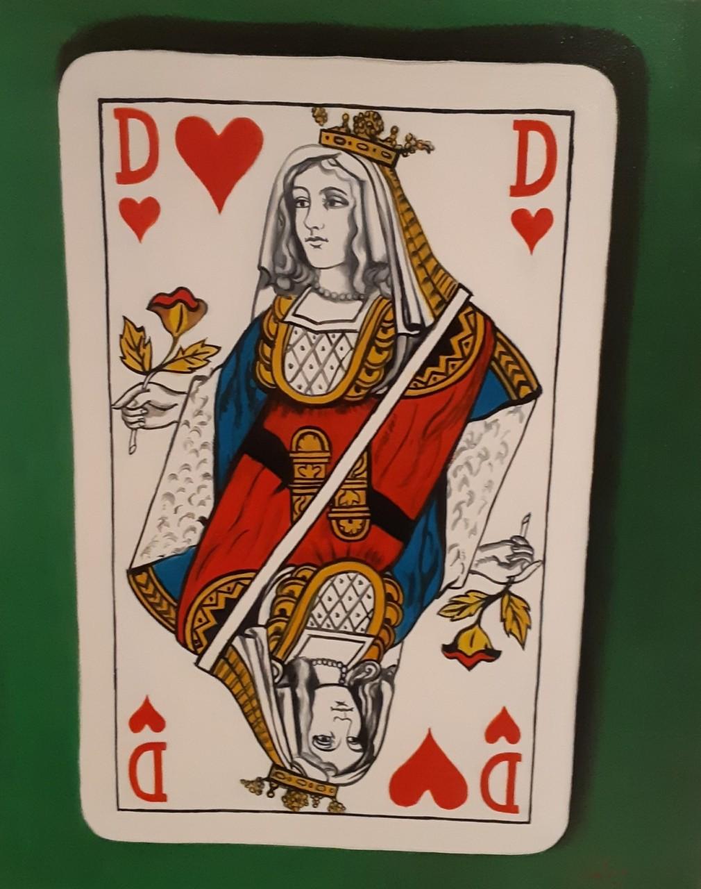 carte de dame de cœur