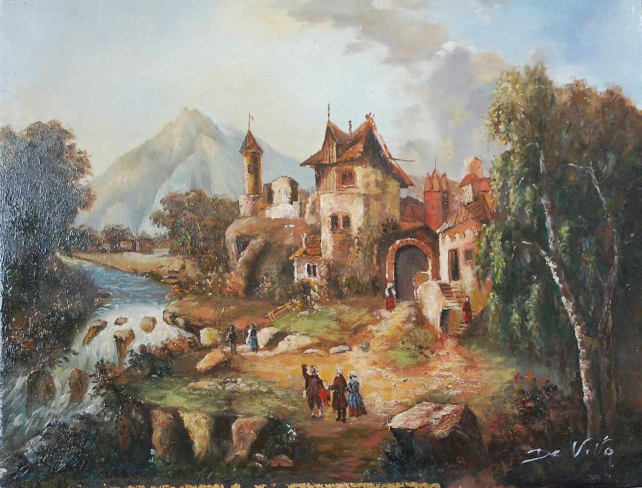 château au bord de la rivière