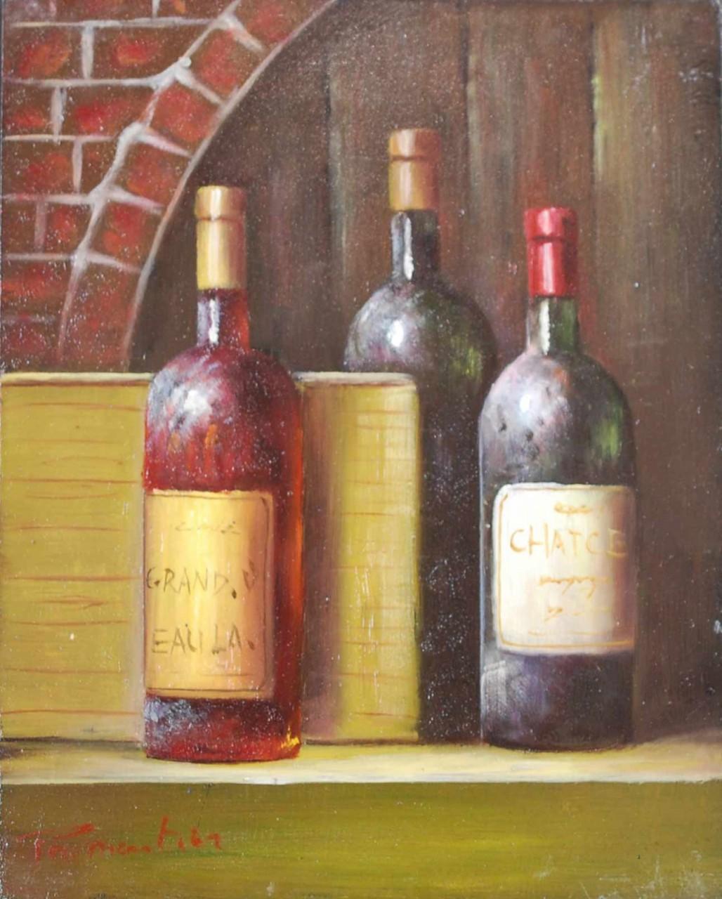 ECOLE MODERNE trois bouteilles de vin
