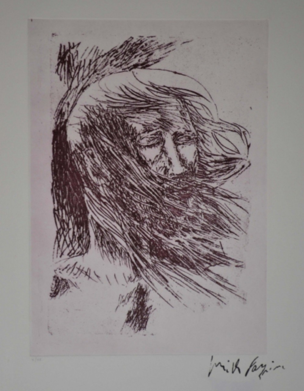 FAZZINI Pericle homme barbu