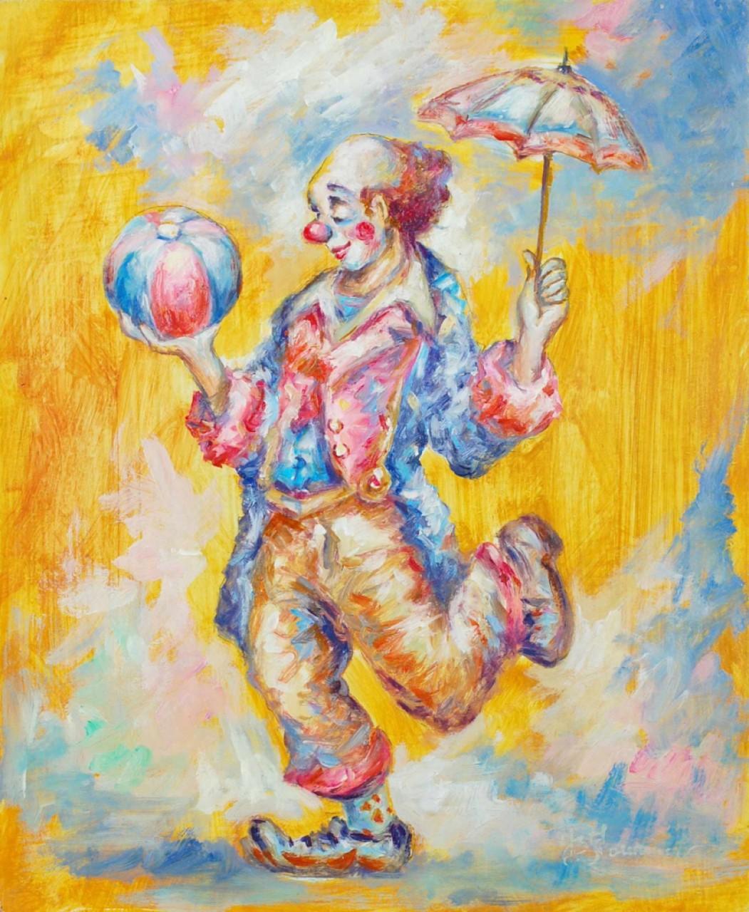 FOURNIER Jean-Baptiste clown jouant au ballon