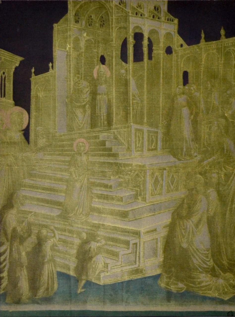 GADDI Taddéo présentation de la vierge au temple jaune