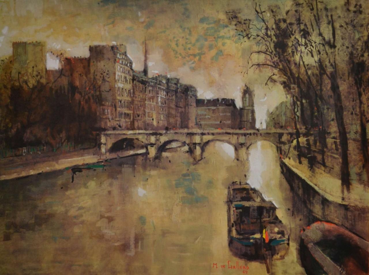 GALLARD Michel de péniche pont neuf