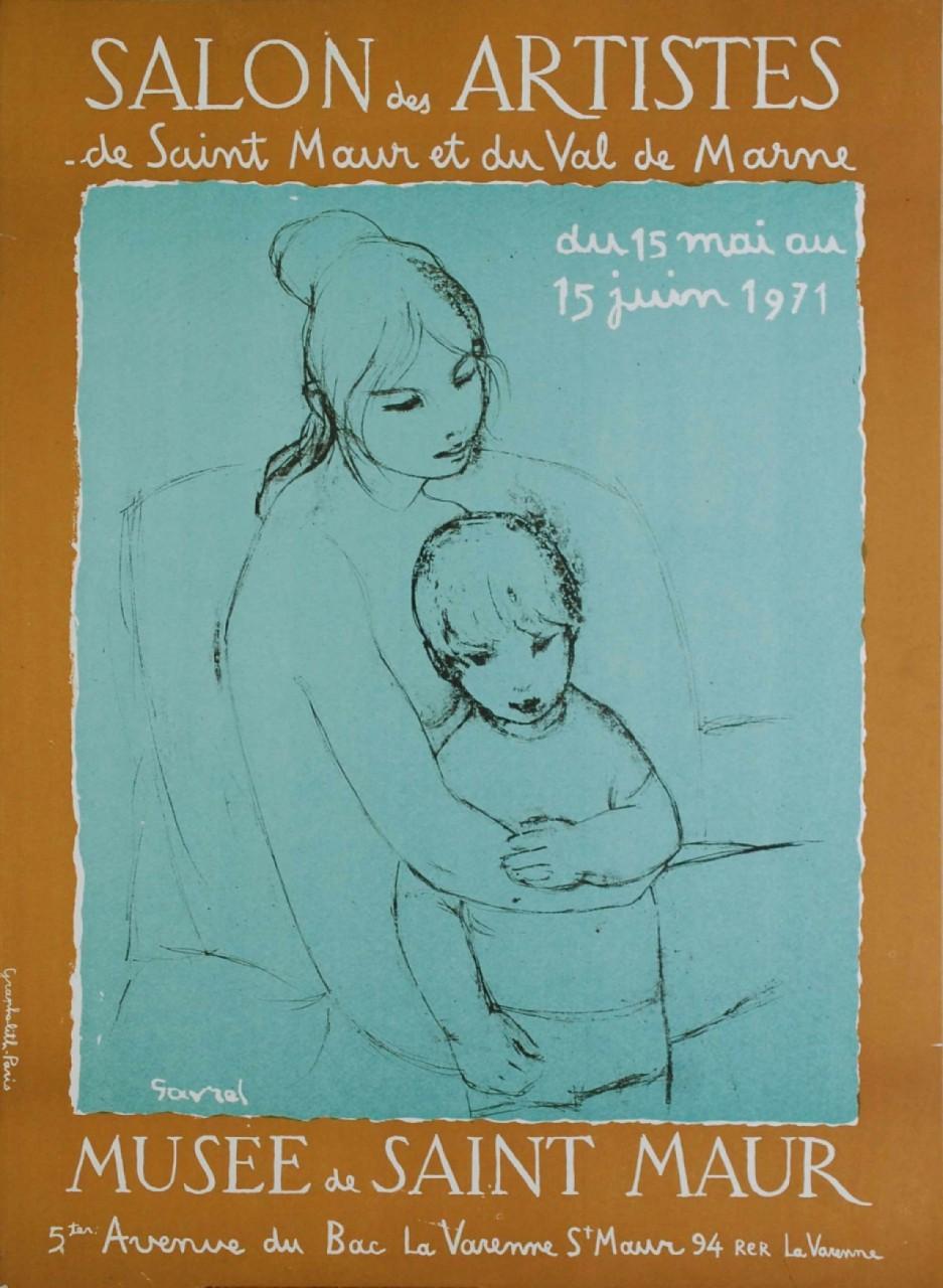 GAVEAU Claude affiche musée de Saint Maur