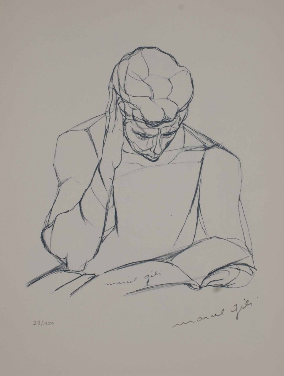 GILI Marcel homme qui lit