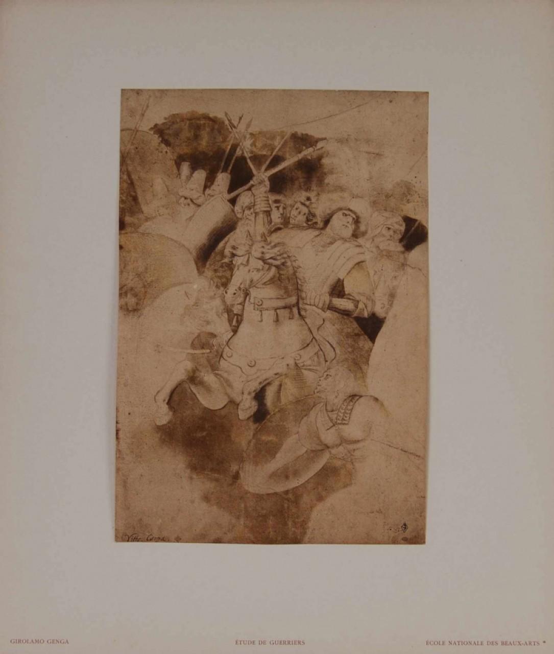 GIROLAMO Genga étude de guerriers