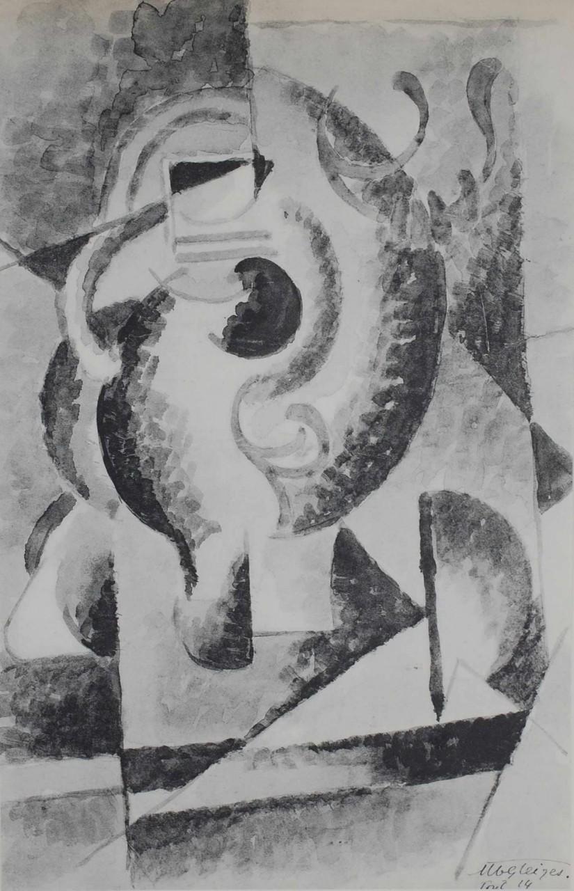 GLEIZES Albert composition noire et blanche