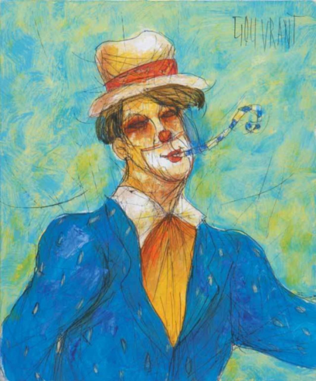 GOUVRANT Gérard clown amusé