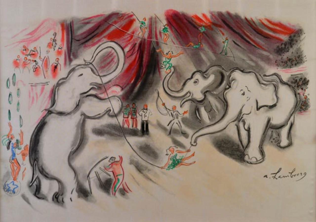 HAMBOURG André le cirque avec des éléphants