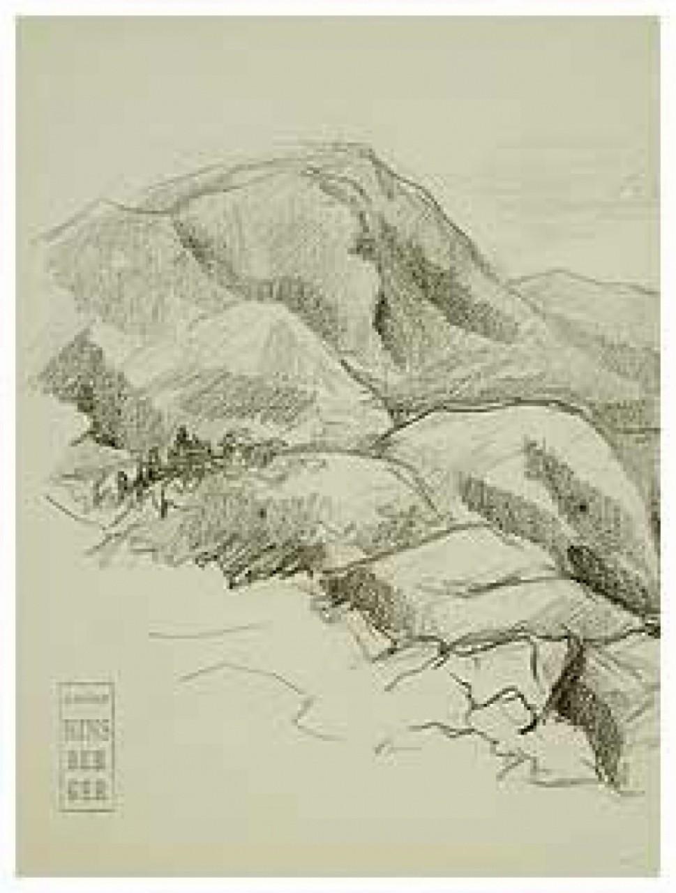 HINSBERGER Alexis paysage montagnard