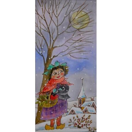 JOUENNE Sylviane enfant avec son panier