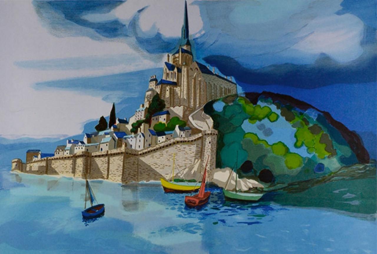 LAMBERT Georges bateaux en bas du fort