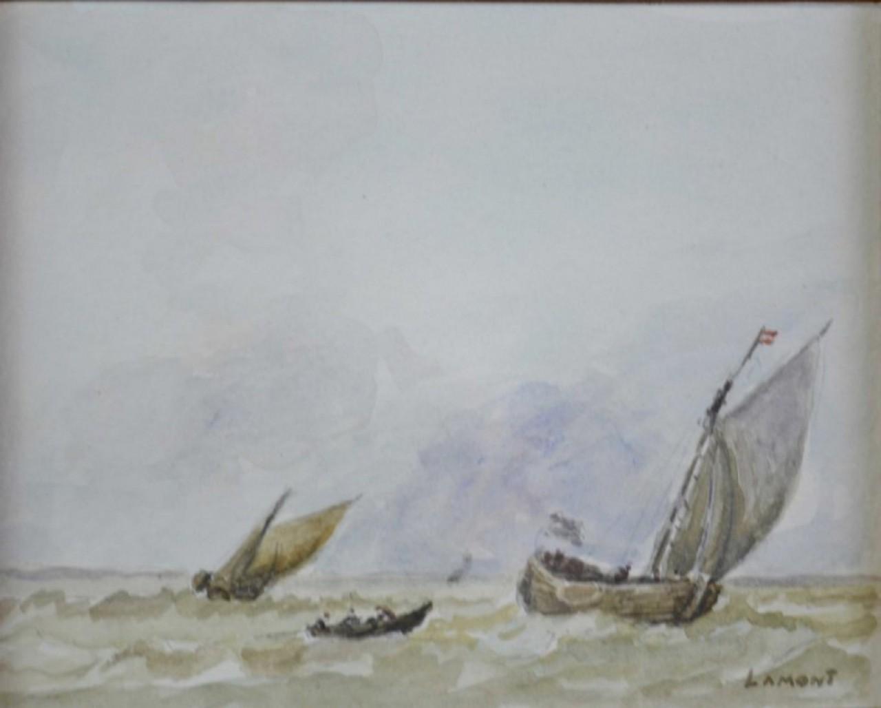 LAMONT Joseph bateaux dans le vent