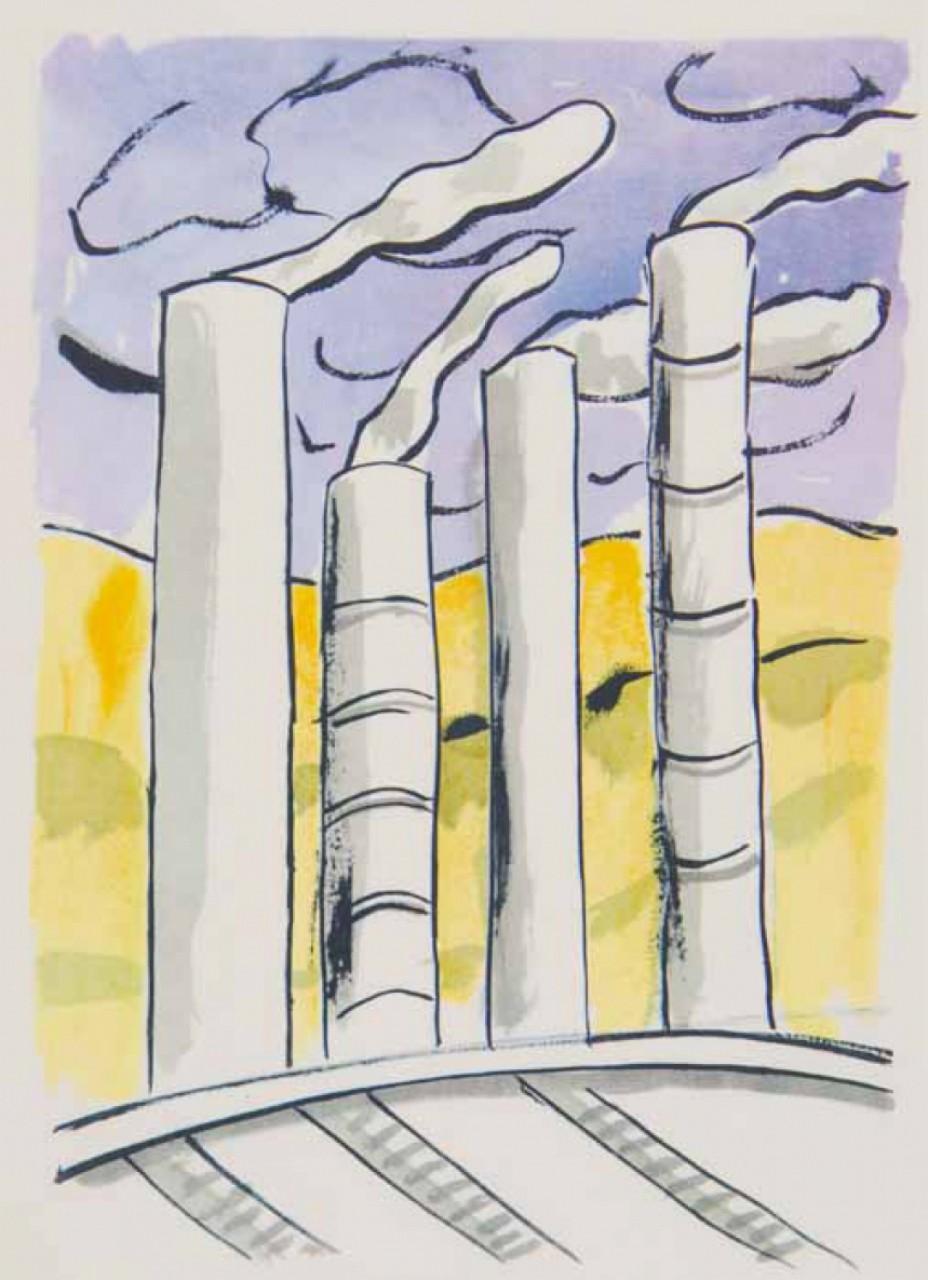 LEGER Fernand cheminées d'usine