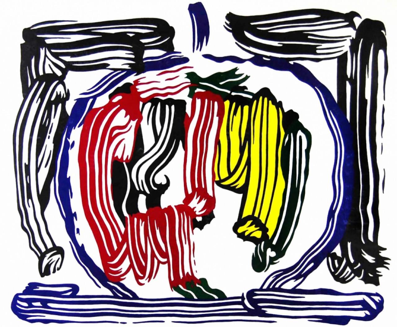 LICHTENSTEIN Roy composition colorée