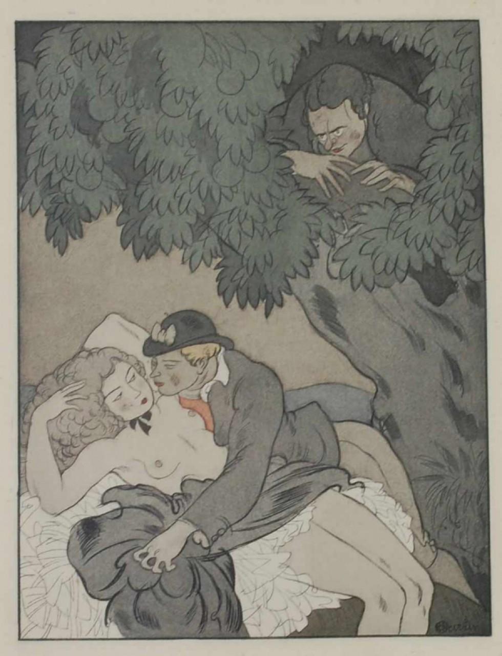 MARTIN Alphonse femme nue et voyeurs