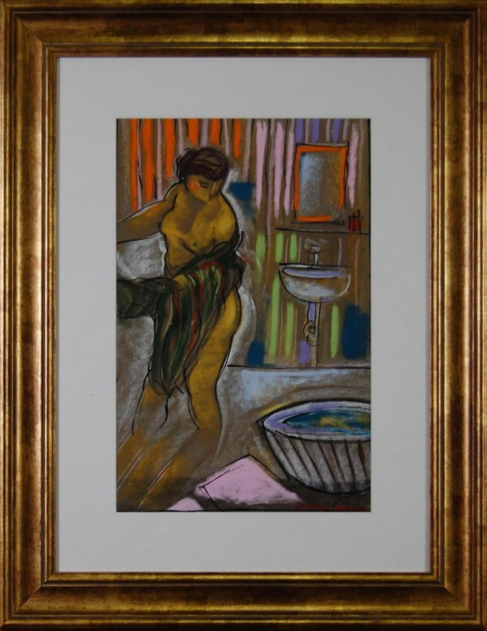 MARTINERY Philippe femme nue faisant sa toilettes