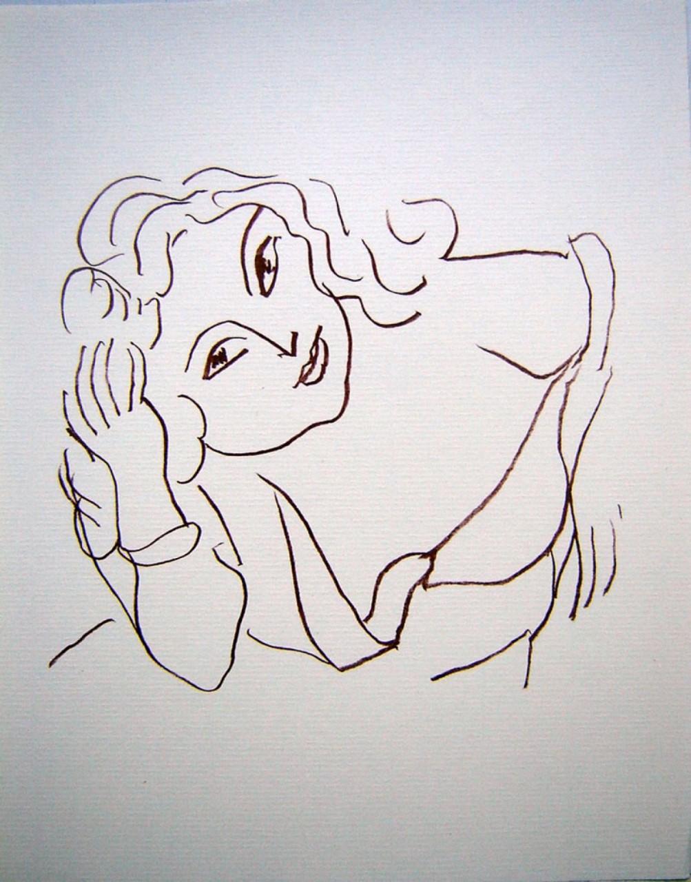 MATISSE Henri femme la main dans ses cheveux