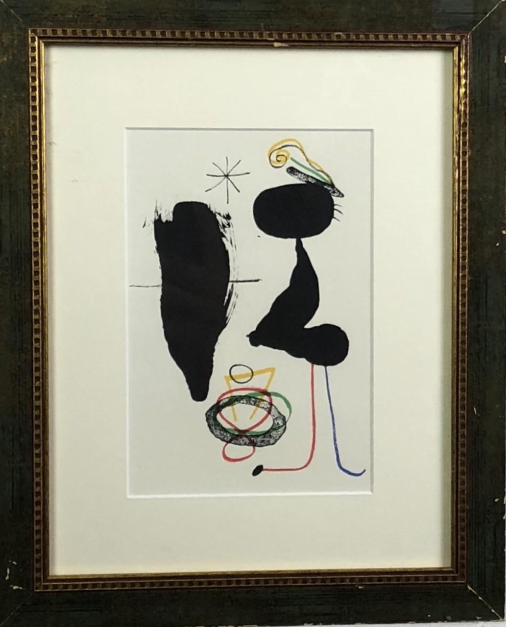 MIRÓ Joan autruche noire