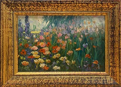 MALLET Edouard champ fleuri