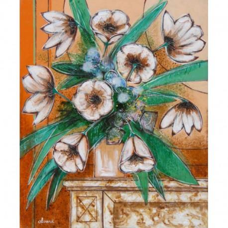 Alvard Bouquet sur la cheminée