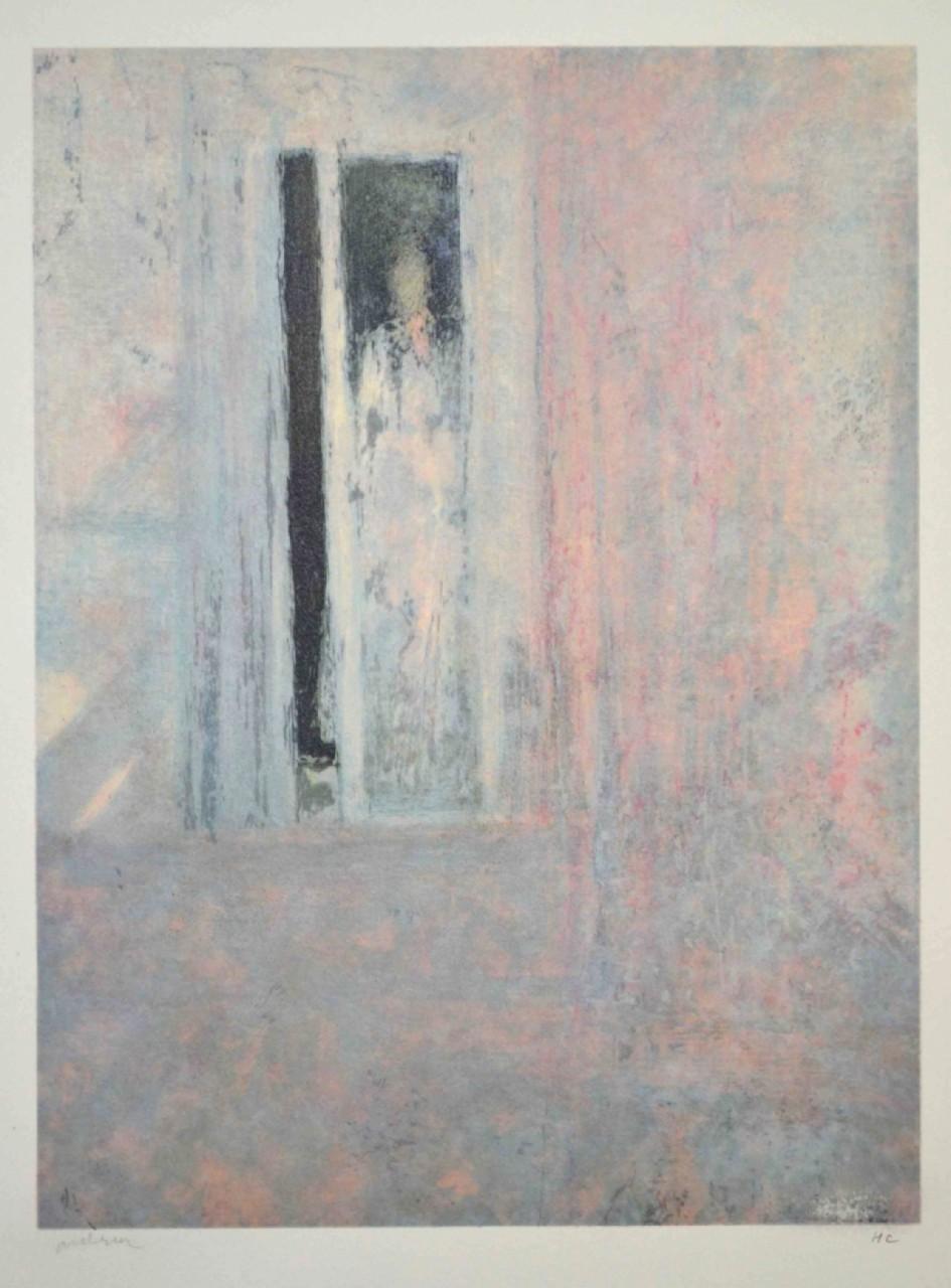Andrier silhouette derrière la fenêtre