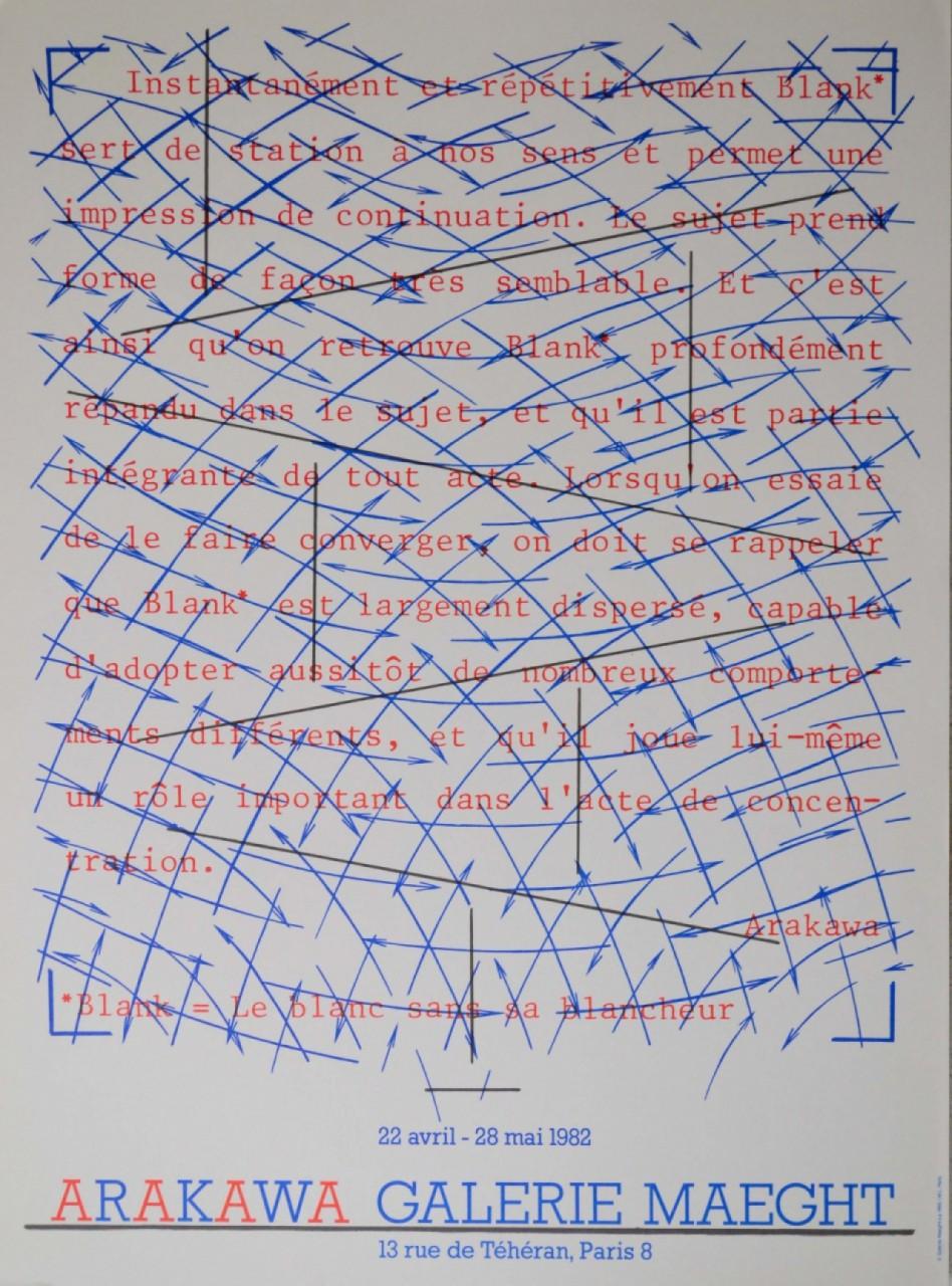 Arakawa composition pour galerie maeght