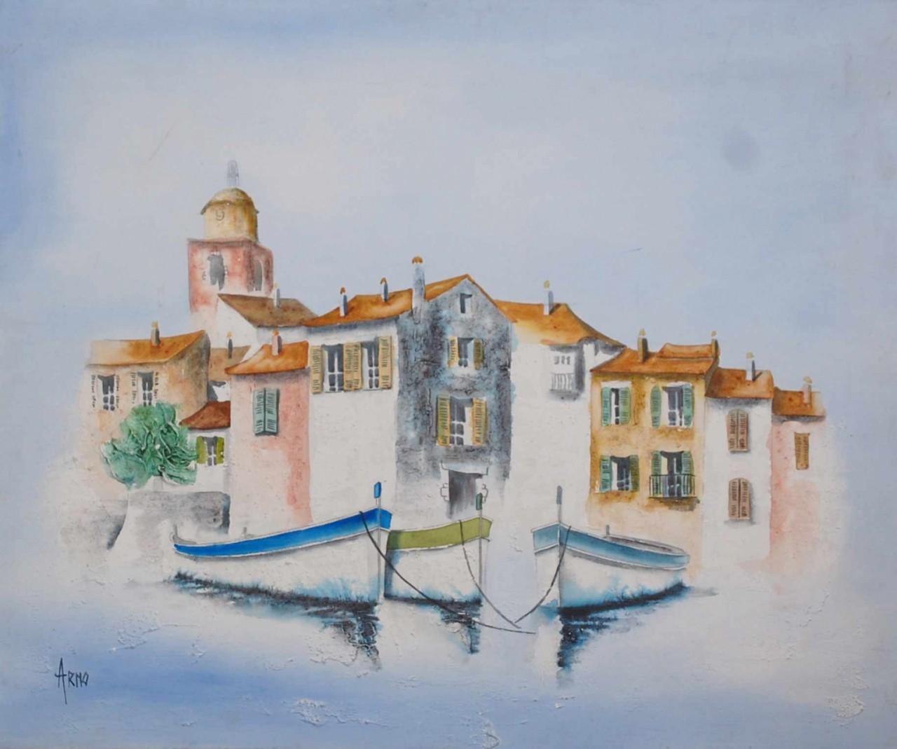 Arno ile devancée par des bateaux