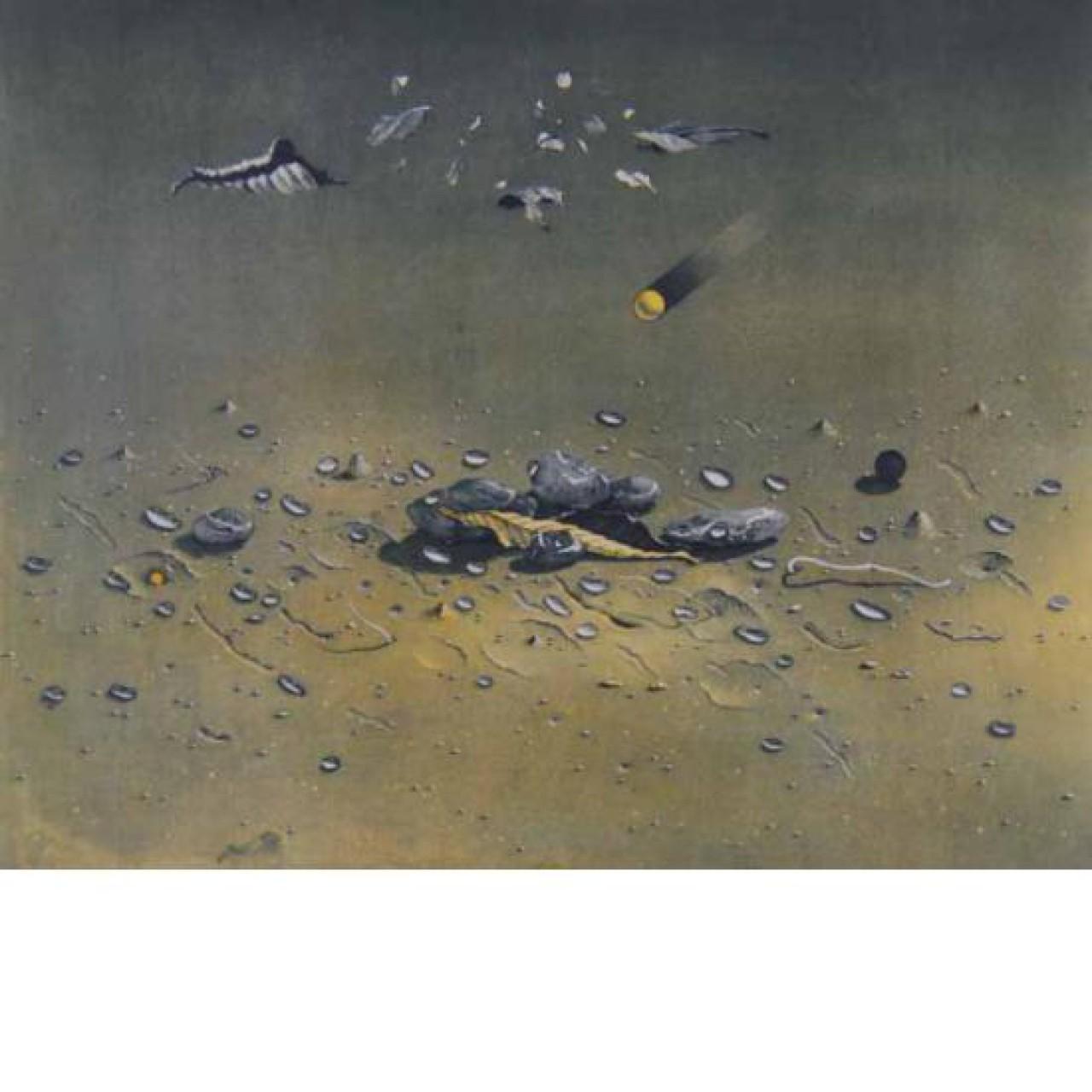 Asada feuille sous la pluie