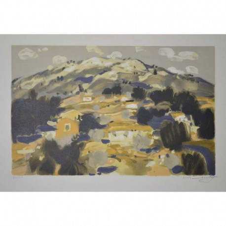 Baboulene Eugène paysage amont en montagne