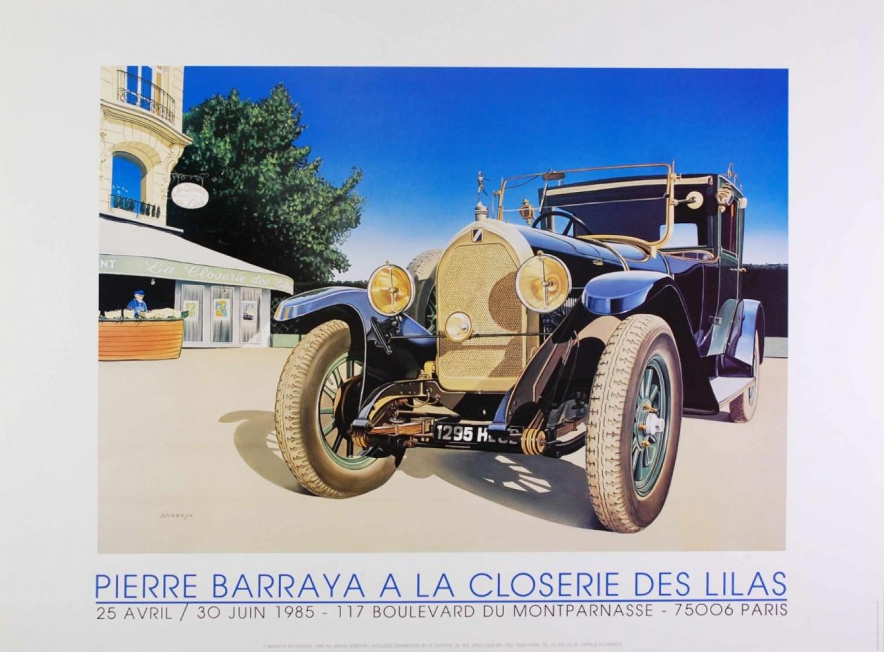 Barraya Pierre voiture ancienne devant La closerie des Lilas