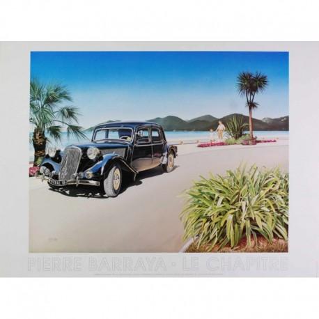 Barraya Pierre voiture ancienne au bord de la digue