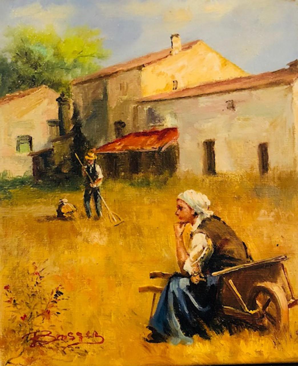 Bassez Walter paysans dans une ferme