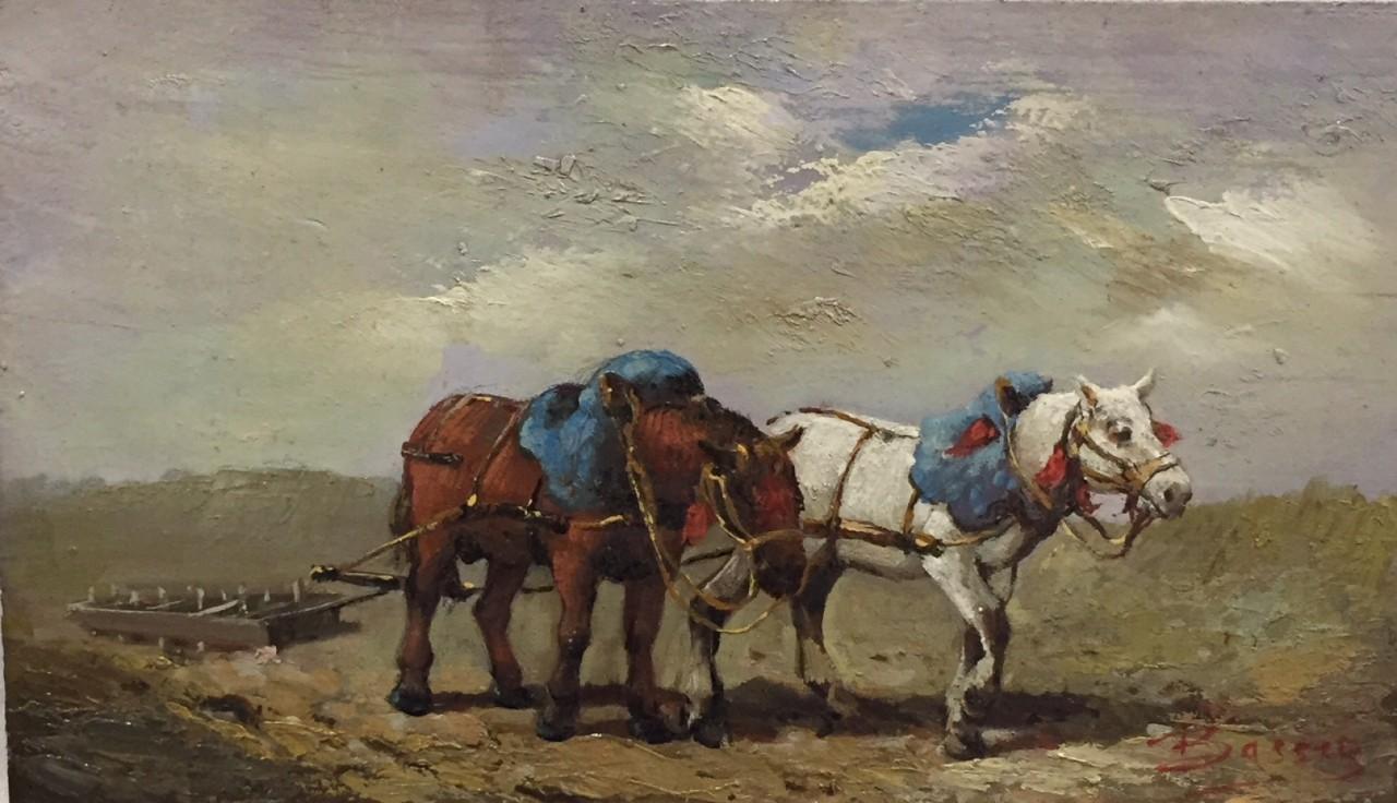 Bassez Walter cheval et vache agriculture