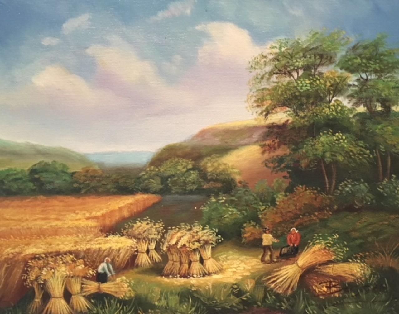 Bassez Walter paysans dans un champs