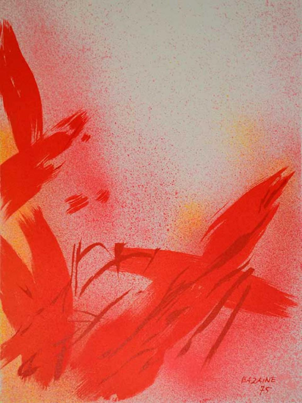 BAZAINE Jean composition rouge